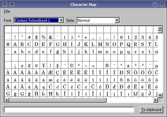 Qt 4 1: Character Map Example